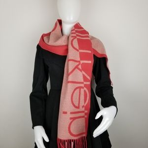 Calvin Klein Orange Red Scarf Created For Macy's